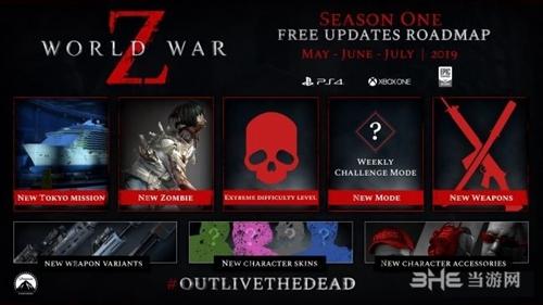 《僵尸世界大战》第一季度路线图