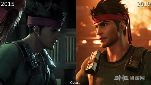 《最终幻想7重制版》画面对比图1