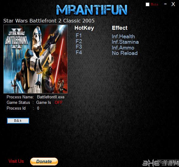 星球大战前线2经典2005年版四项修改器截图0