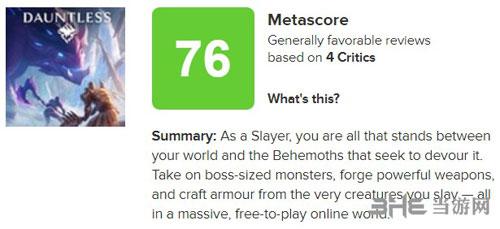 《无畏》M站评分