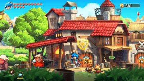 《怪物男孩和诅咒王国》游戏截图