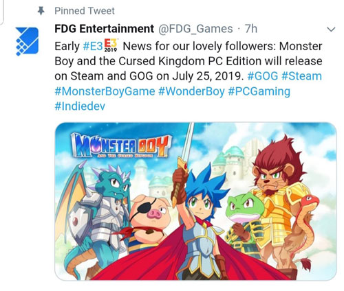 《怪物男孩和诅咒王国》推特原文
