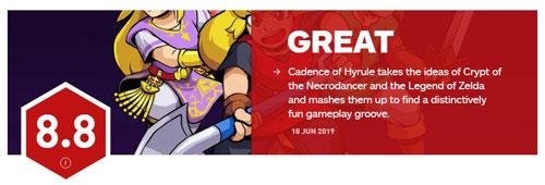 《节奏海拉鲁》IGN8.8分