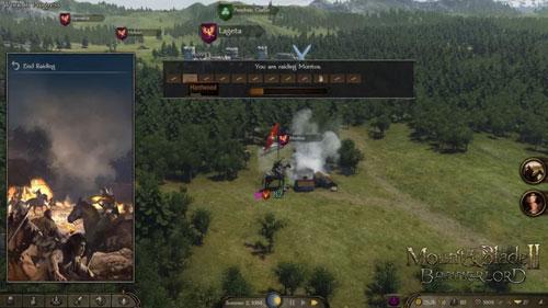 战役地图上正在被劫掠的村庄