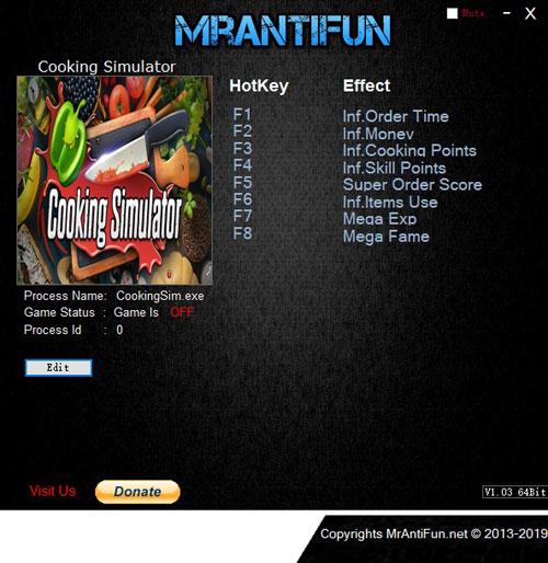 料理模拟器修改器截图