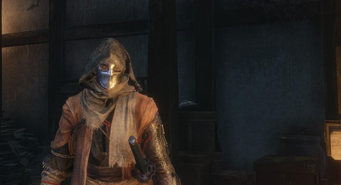 只狼堕落的骑士头盔和面具MOD截图0