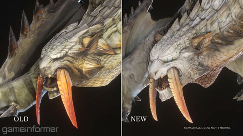 《怪物猎人世界冰原》冰牙龙新旧对比