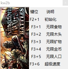 王国战争2:战场六项修改器截图0