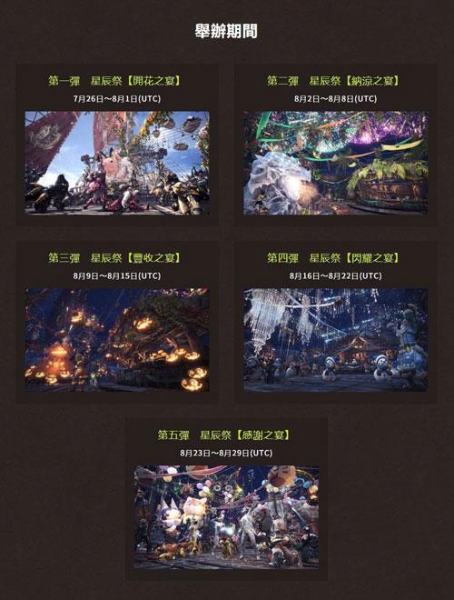 《怪物猎人世界》祭典开启时间
