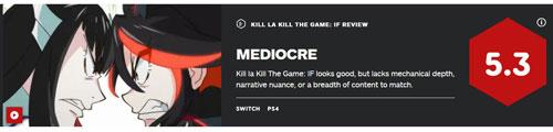 《斩服少女:异布》IGN评分