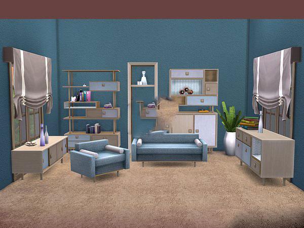 模拟人生4清新起居室家具MOD截图0