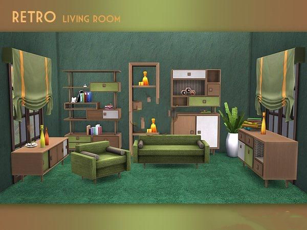 模拟人生4小清新起居室家具MOD截图0