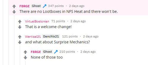 EA社区经理确认《极品飞车:热度》不会有氪金箱