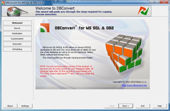 DBConvert for MSSQL and DB2图2