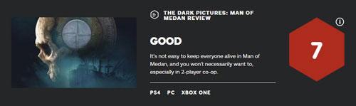 《黑相集:棉兰号》IGN评分