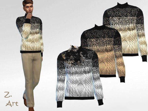 模拟人生4男性时尚高领毛衣MOD截图0