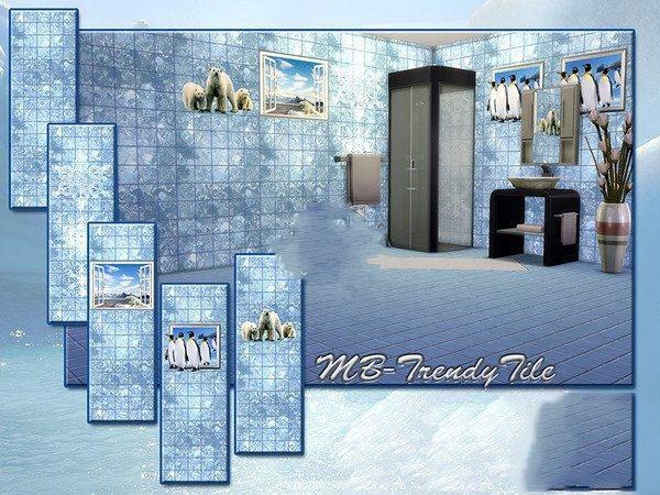 模拟人生4冰块风格墙面MOD截图0