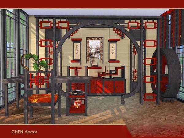 模拟人生4中国风客厅家具MOD截图0