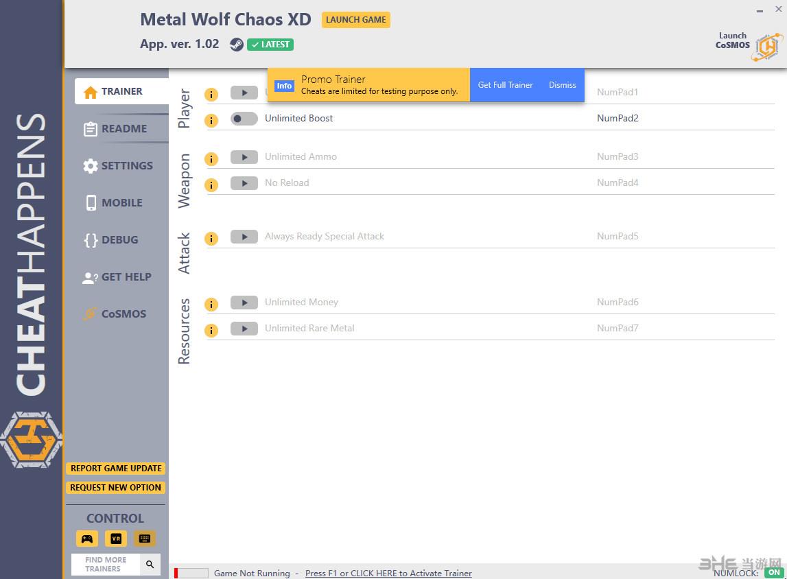 钢铁苍狼混沌之战XD七项修改器截图0