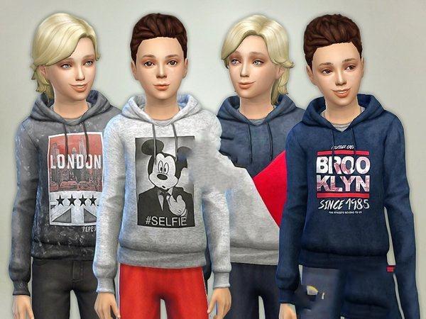 模拟人生4男孩简洁连帽衫MOD截图0