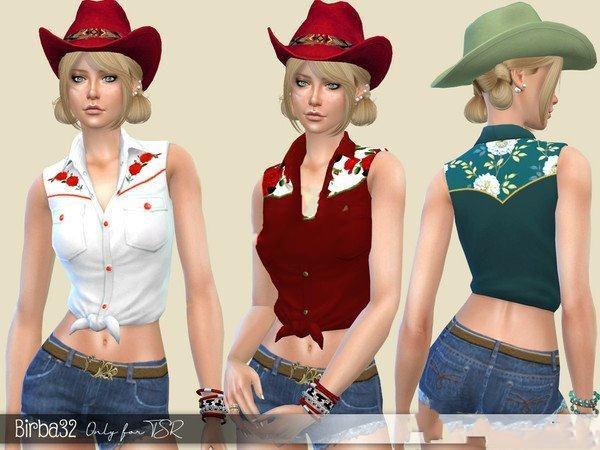 模拟人生4女性复古牛仔服装MOD截图0