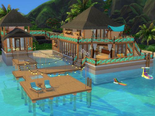 模拟人生4海边的木质简洁住宅MOD截图0