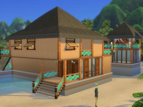 模拟人生4海边的木质简洁住宅MOD截图1