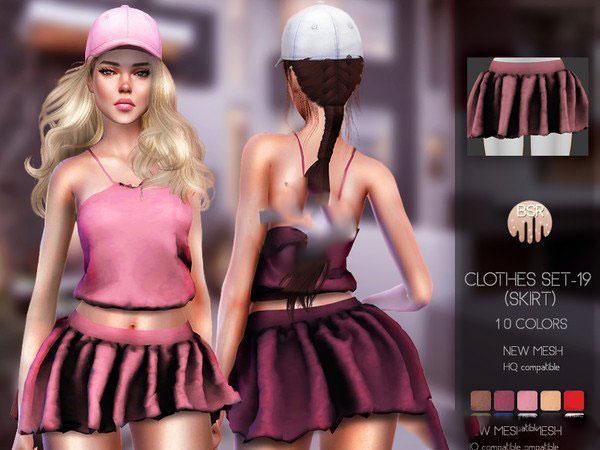 模拟人生4美丽褶皱小短裙MOD截图0