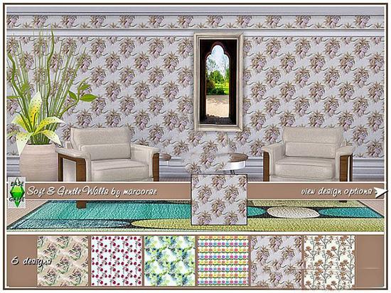 模拟人生4鲜艳的印花墙纸MOD截图0