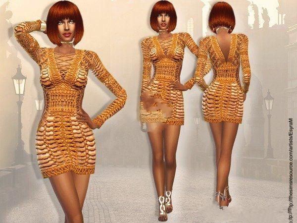 模拟人生4手工编织长裙MOD截图0