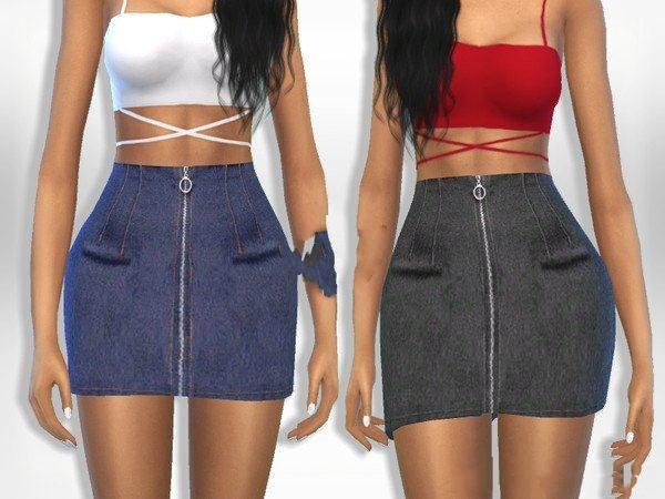 模拟人生4女性拉链牛仔短裤MOD截图0