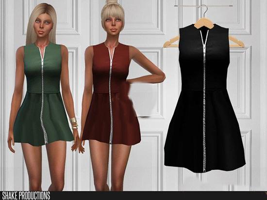 模拟人生4拉链式女性长裙MOD截图0