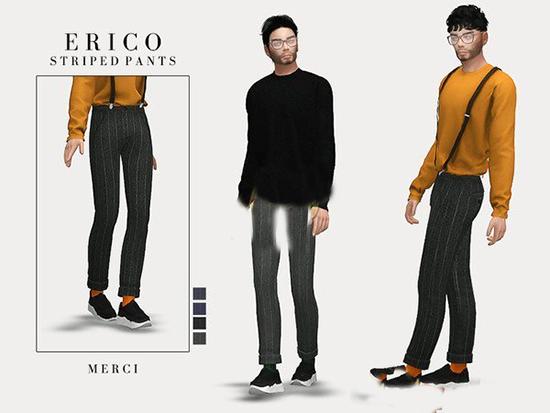 模拟人生4男性吊带长裤MOD截图0