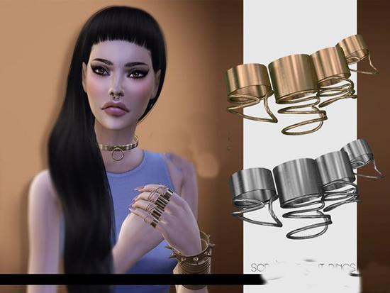 模拟人生4女性金属大戒指MOD截图0