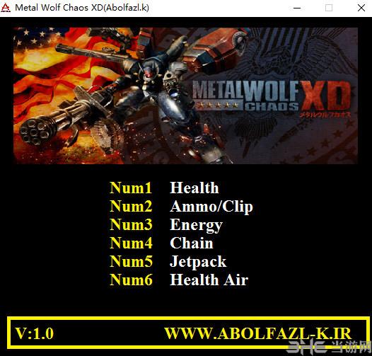 钢铁苍狼:混沌之战XD六项修改器截图0