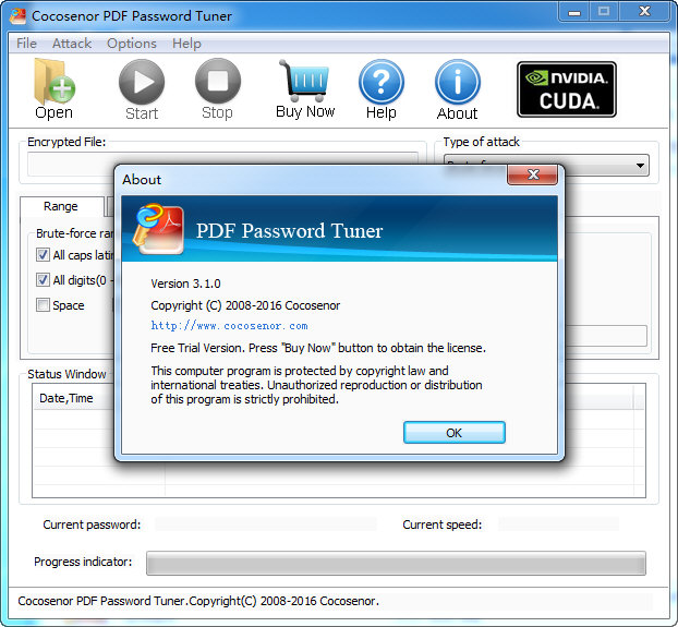 Cocosenor PDF Password Tuner图
