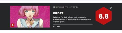《凯瑟琳Full Body》IGN评分