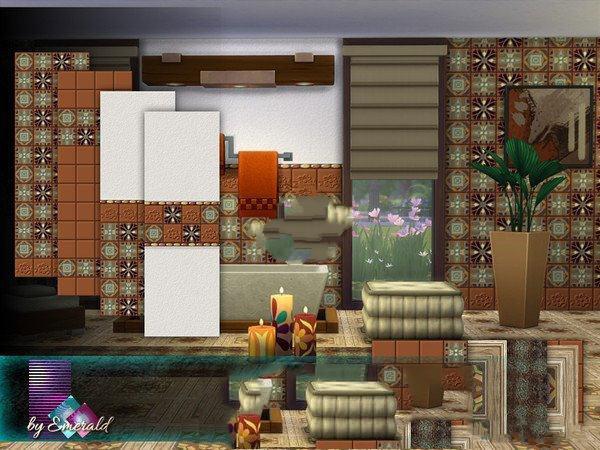 模拟人生4棕褐色瓷砖墙面地板MOD截图1