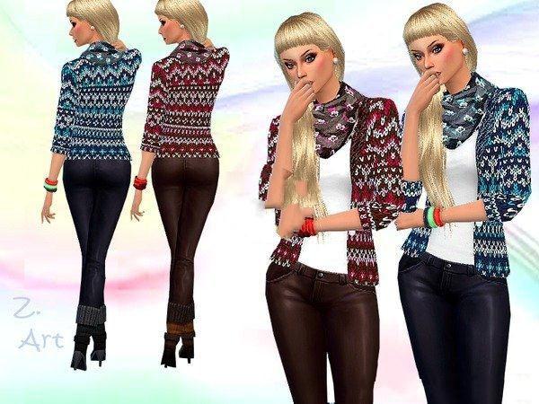 模拟人生4女性美丽彩色毛衣MOD截图0