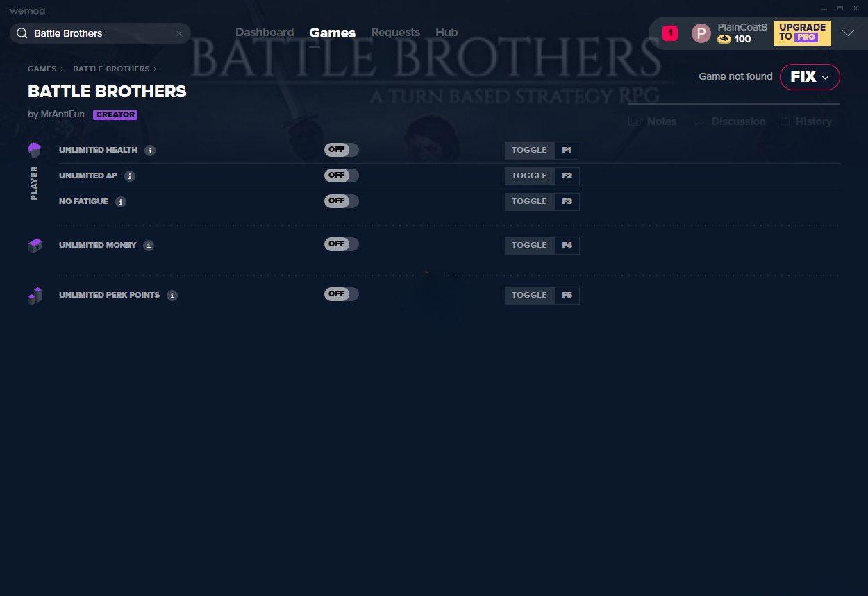 战场兄弟五项修改器截图0