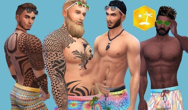 模拟人生4男性泳装短裤MOD截图0