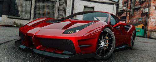 侠盗猎车5法拉利488 GTB限量款跑车MOD截图0