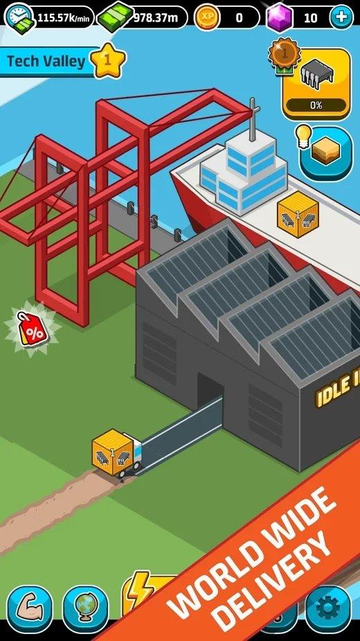 闲置工业世界无限金币版截图4