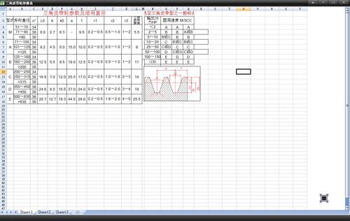三角皮帶輪參數表軟件截圖