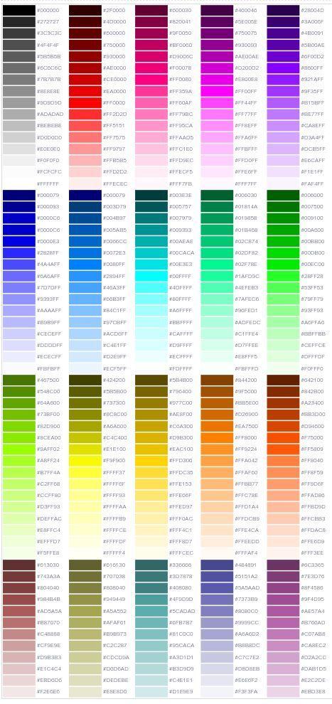 工匠物语2颜色代码图