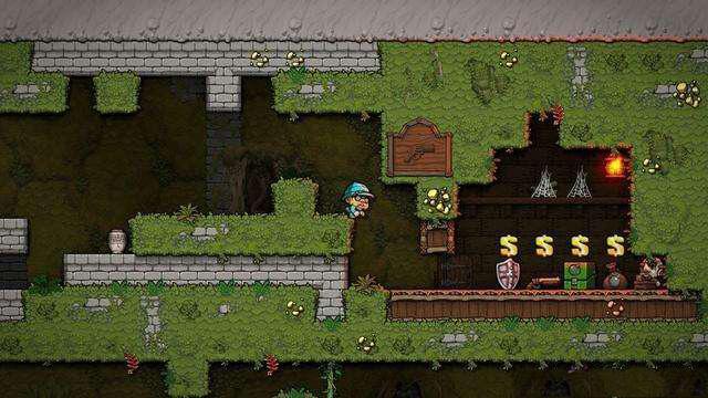 洞穴探险2商店抢劫方法