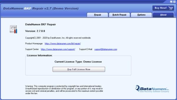 DataNumen BKF Repair软件图片2