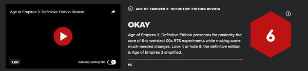 《帝国时代3:决定版》IGN评分