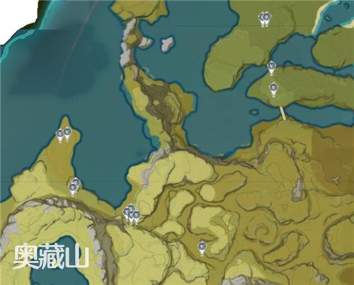 原神晶蝶分布图4