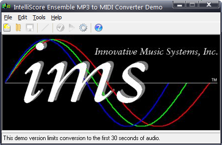 Intelliscore Ensemble MP3 to MIDI Converter图片
